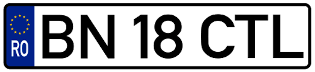 Romanian licence plate