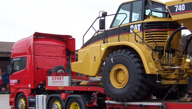 Step Frame Trailer with a wide load