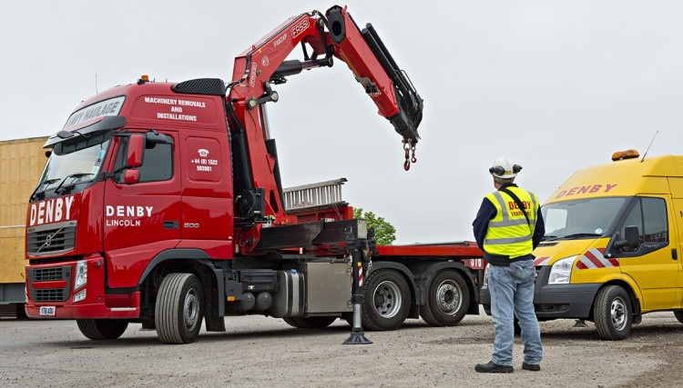 Hiab in operation