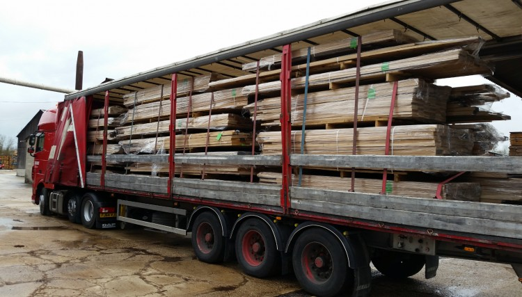 Timber loaded to go