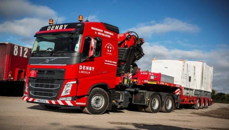 Hiab Lorry Crane Lorry Denby Transport Limited